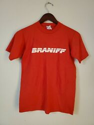 Vintage Braniff Airlines Transportation Red T Shirt Small Rare