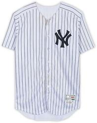 Luis Severino Yankees Gu White Pinstripe Jersey And Mothers Day Patch On 5/13/18