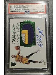 Dand039angelo Russell 2015 Flawless Emerald Rpa 3 Color Rc Patch Auto /5 Psa 10 Pop 1