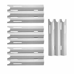 Stainless Steel Grill Heat Plates Shield Heat Tent Burner Cover Flame 4pcs