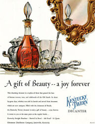 Kentucky Tavern Decanter Ad Bourbon Whiskey A Gift Of Beauty 1952 Magazine Ad
