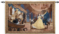 Disney Parks Beauty And The Beast Tapestry Wall Hanging Throw New Sealed
