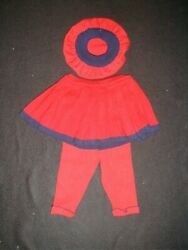 Red Knit Pleated Skirt, Pants And Beret Lot Size 6-9 And 18 Mo Cheap