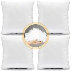 Fixwal Throw Pillow Inserts 16x16 Inches Square Pillow Forms Decorative Pillo...
