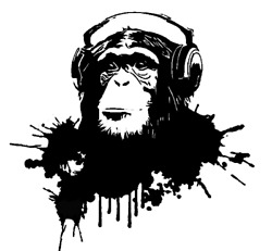 Chimp With Headphone Listening To Music Monkey Wall Decal Removable For Home