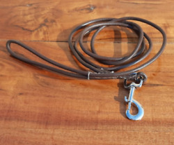 Brown Leather Dog Leash 6 Ft Long Training Pet Show Lead For Medium Large Breeds
