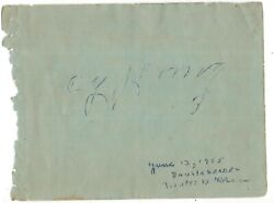 Cy Young Signed 4x5 Vintage 1955 Album Page Jsa Loa One Of His Final Autographs