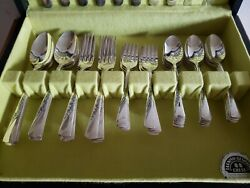 Silver International Co Revelation 50 Piece Silverplate Service For 8 Plus Chest