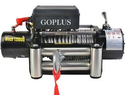 Goplus Classic 12000 Lbs 12 V Electric Recovery Winch With Wireless Remote New