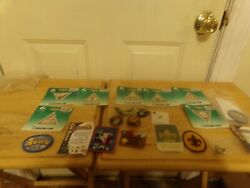 Lot Of Mixed New And Used Girl Scouts Boy Scouts Cub Scout Badges Tie Clips Etc