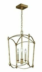 Feiss F3321/3adb Thayer Lantern Candle Chandelier Antique Guild P