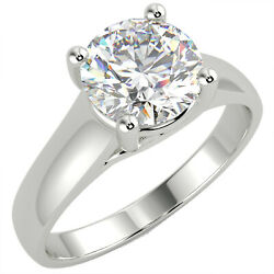 1.22 Ct Round Cut Si1/e Solitaire Diamond Engagement Ring 14k White Gold
