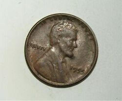 1955 Lincoln Wheat Cent Poor Mans Double Die 55/55 Error