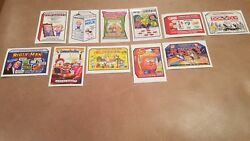 Lot Of 11 2017 Garbage Pail Kids Trumpocracy 100 Days Wacky Packages Rare