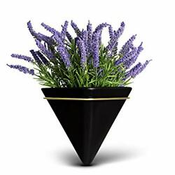 Trivium Wall Planters with Artificial Plants Included Hanging Wall Planters w...
