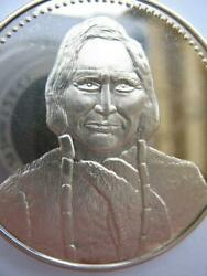 1.oz Chief Black Kettle Cheyenne American Indian Tribal Nations 925 Silver Coin