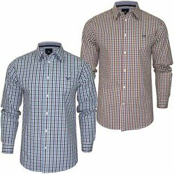 Crew Clothing Mens Classic Fit Multi Gingham Check Shirt - Long Sleeved