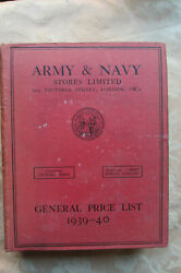 Army And Navy Stores General Price List 1939-40