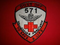 Vietnam War Patch Us 571st Medical Helicopter Ambulance Dustoff To Save A Life