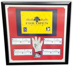 Phil Mickelson Signed Autographed Framed Glove And Scorecard Fbr Open W/coa