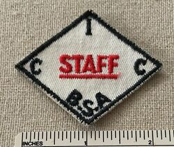 Vtg Central Indiana Council Boy Scout Camp Staff Hat Diamond Patch Bsa Cic Badge