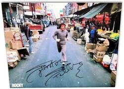 Sylvester Stallone Signed Autograph 20x24 Canvas Photo Rocky Running Oa-8423215