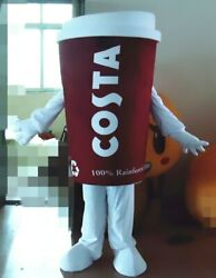 Coffee Mascot Costume Suits Cosplay Party Game Dress Outfits Xmas Easter Adult@@