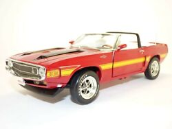 Ford Mustang Shelby Gt500 Cabriolet 1970 Rouge Candy 1/18