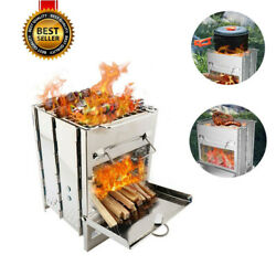Stainless Steel Folding Portable Charcoal Barbecue Bbq Grill Portable Wood Oven