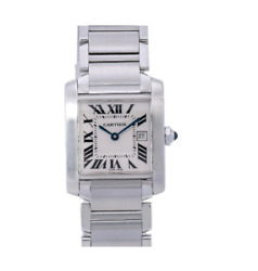 Tank Franandccedilaise W51011q3 25mm White Dial With Stainless Steel Bracelet