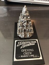 Rare And Limited. Disneland Indiana Jones Opening Crew Pewter Statue