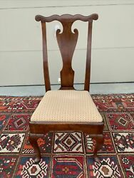A Very Nice Antique Pennsylvania Walnut Queen Anne Side Chair Circa 1750and039s