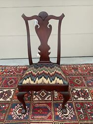 A Fine Antique Philadelphia Chippendale Walnut Side Chair With Ball And Claw Feet