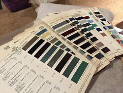 Studebaker Rare Vintage Parts Paint Chips Charts 1937-1964. Complete Set Look