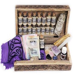 Unalunamoona Witchcraft Kit Box Altar 37 Wiccan Supplies Baby Witch Starter Pack