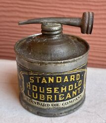 Antique Standard Oil Company Household Lubricant 4oz Oiler Oil Can