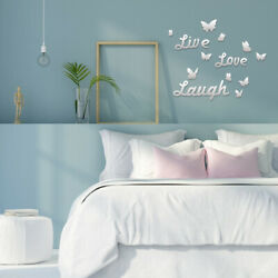 New 3D Removable Mirror Wall Sticker Butterfly Wall Decals Romantic Home Decor
