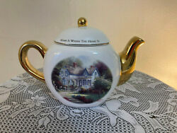 Thomas Kinkade Home Is Where The Heart Is Collectible Teapot
