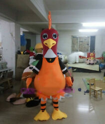 Adult Cartoon Rooster Mascot Costume Cosplay Party Game Fancy Dress Christmas @@