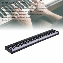 Professional 88 Key Foldable Keyboard Piano Electronic Lcd Wireless Connection