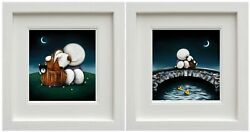 Watching The World Go By And The Great Outdoors By Doug Hyde. Framed. New And Coa.