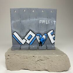 Banksy Walled Off Hotel Wall Sculpture / 5 Panels Love 2017 - Rare Model / Color