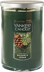 New Yankee Candle Large 2 Wick Tumbler Candle Balsam amp; Cedar