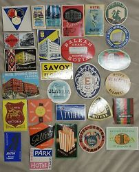 Luggage Label Hotel Nice Lot Of 23 Different Labels