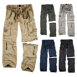 Surplus Raw Vintage Royal Outback Trousers Cargo + Zip Off Shorts In One
