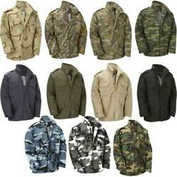 M65 Us Army Jacket Vintage Military Field Top Combat Lined Coat Urban Camo Navy