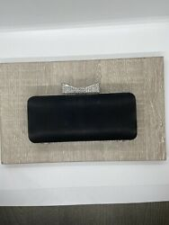 Claire's Black amp; Silver EVENING CLUTCH HANDBAG PURSE $16.40