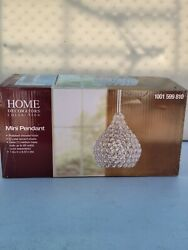 Home Decorators 1 Light Polished Chrome Pendant with Clear Crystal Accents