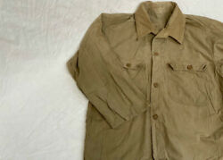 Ww2 Former Jp Army Nco Military Heat Protection Open Collar Shirt Jacket M5312