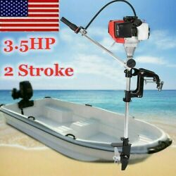 2 Stroke 3.5hp Heavy Duty Outboard Motor Boat Engine Water Cooling Cdi System Us